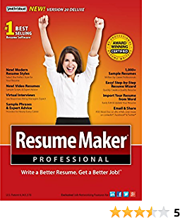 Individual Software ResumeMaker Professional Deluxe 20 20 (2-Users)