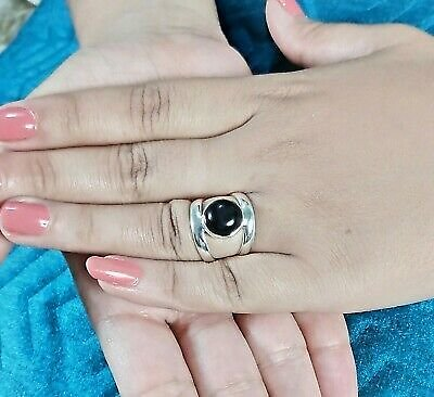 Black Onyx Silver Ring 925 Solid Sterling Silver Jewelry (US-BON-025)