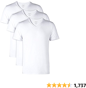 DAVID ARCHY Men's Undershirts Ultra Soft Micro Modal V-Neck Breathable T-Shirts 2 or 3 Pack