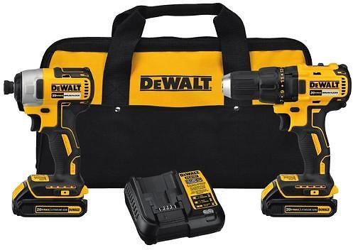 DEWALT 2-Tool 20-Volt Max Brushless Power Tool Combo Kit with Soft Case (Charger Included and 2-Batteries Included) Lowes.com