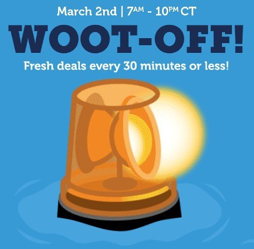 'Woot-Off' Flash Sale (Ends @ 10pm CT)