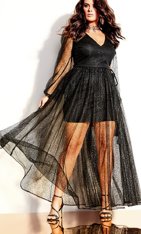 Eleganza Maxi Dress - Black