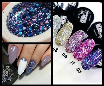 Oxxi Hollywood Gel Glitter Sequins Gel 5 Ml Nail Art