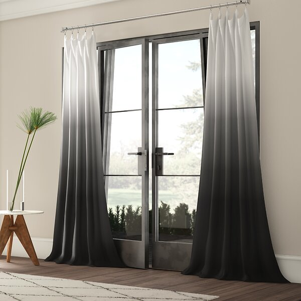 SALE 53% OFF ON Winterbourne Synthetic Semi-Sheer Rod Pocket Single Curtain Panel