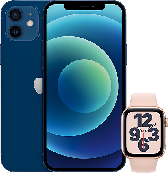 Get 2 IPhone 12 + 2 Apple Watch SE, All Unlimited for $120/month