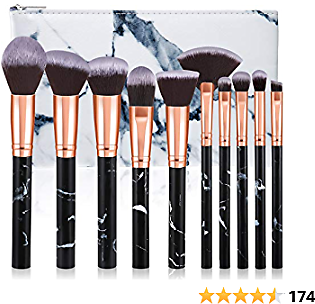 50% +9%voucher OFF ON | Makeup Brushes, Glamour Gaze 10Pcs By Using Code