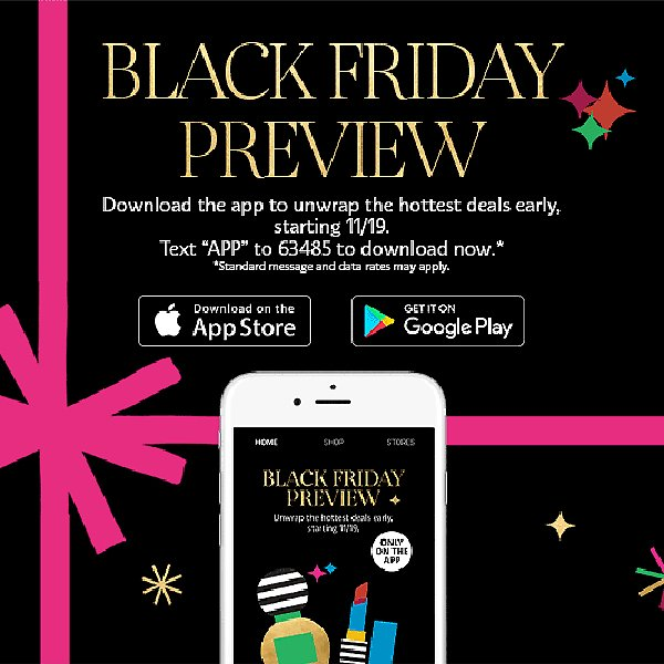 Black Friday Preview Now On App