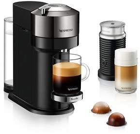 Nespresso Vertuo Next Deluxe By Breville with Aeroccino Milk Frother, Dark Chrome