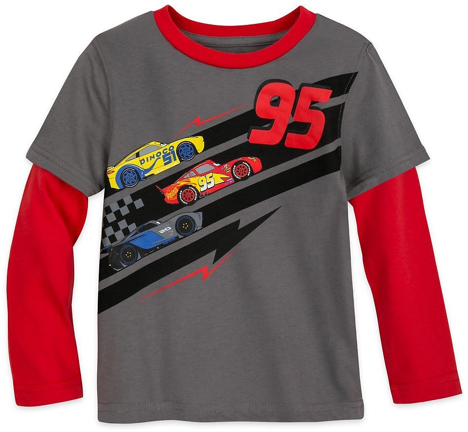 Lightning McQueen Long Sleeve Layered T-Shirt for Boys – Cars | ShopDisney