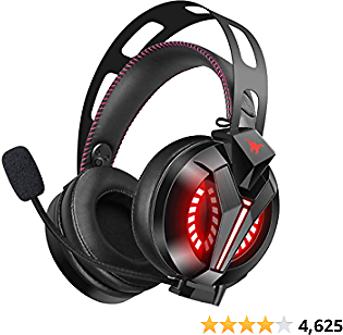 Gaming Headset - Combatwing Xbox Headset 7.1 Surround Sound PC Headsets with Noise Canceling Mic Best Gaming Headphones for PS4/PS2/PC/Mac/Cellphones/Xbox One