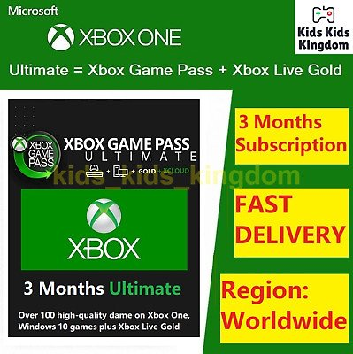 Xbox Game Pass Ultimate 3 Months Membership (Xbox Live Gold + Game Pass) 799366894650