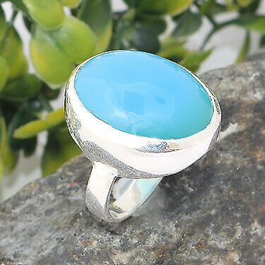 Solid 925 Sterling Silver Turquoise Gemstone Ring Handmade Jewelry - Any Size