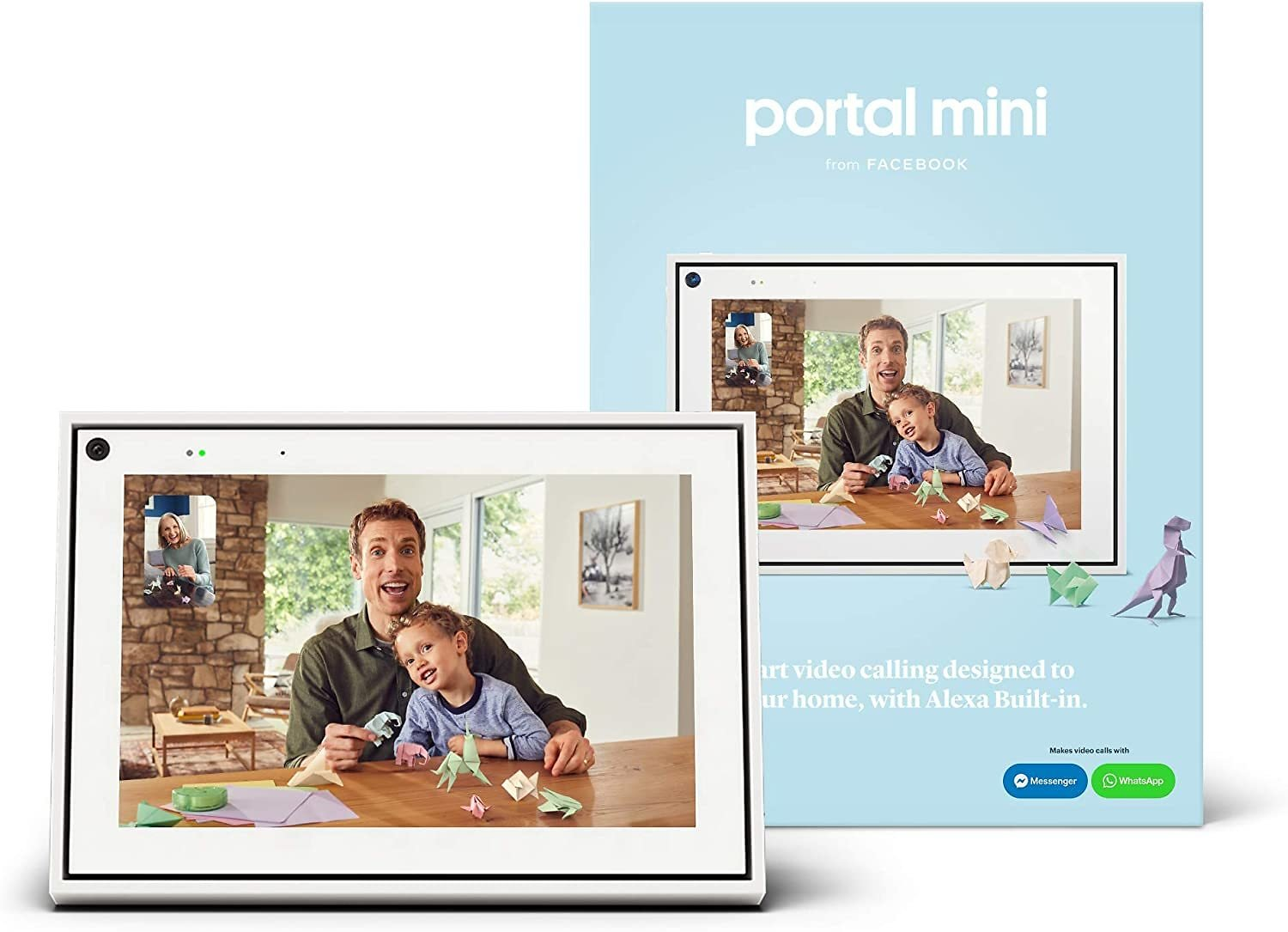 """Facebook Portal Mini - Smart Video Calling 8"""" Touch Screen Display with Alexa - 2 Colors"""