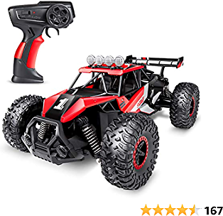 SGILE Remote Control Car Toy for Boys, 2.4 GHz RC Drift Race Car, 1:16 Scale Fast Speedy Crawler Truck, 2 Batteries for 50 Mins Play, Toy Gift for Boys Girls