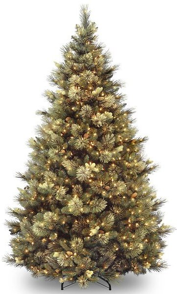 SALE 45% OFF ON Isenhour Green Artificial Christmas Tree with Clear/White Lights