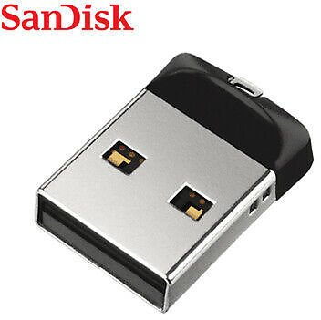 SanDisk Cruzer Fit CZ33 64GB Mini Nano USB Flash Pen Drive Memory Thumb Stick 619659101510