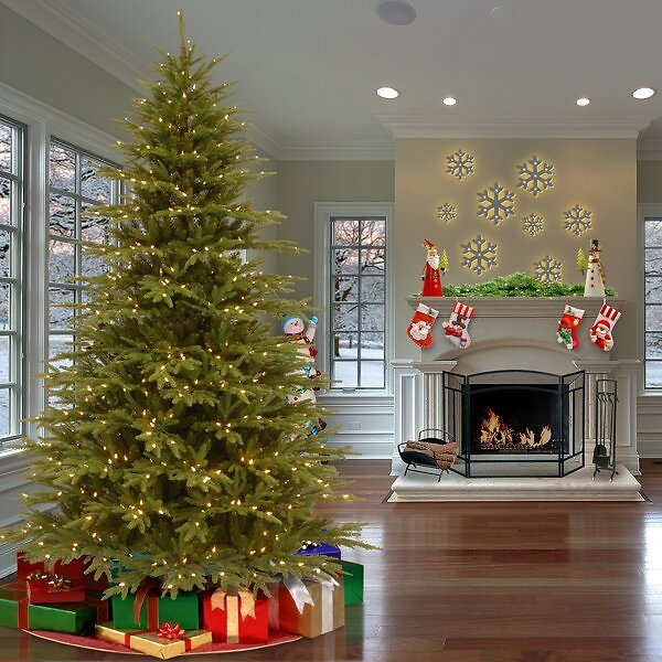 SALE 38%OFF ON Jersey Fraser Green Fir Christmas Tree with Clear/White Lights