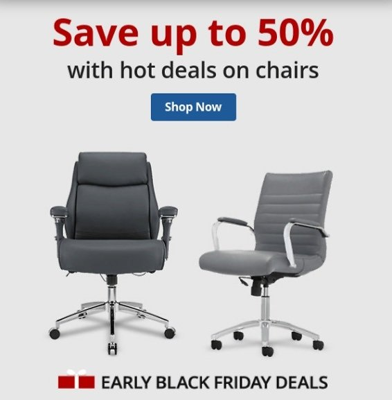 Early Black Friday Deal! Up to 50% Off Office Chairs
