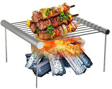 1x Portable Detachable Camping Picnic Barbecue BBQ Grill Folding Barbeque Rack