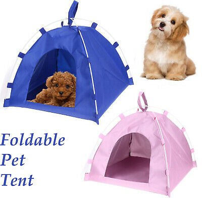 Portable Folding Dogs Pet House Bed Tent Waterproof Cat Indoor Outdoor Teepee