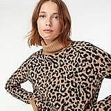 Turtleneck Sweater in Leopard Supersoft Yarn