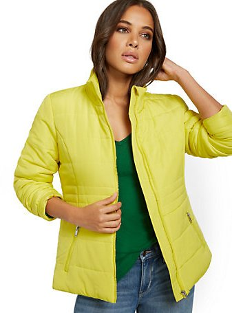 Seamed Puffer Jacket