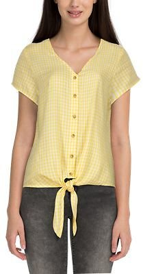 Natural Reflections Gingham Plaid Tie-Front Short-Sleeve Shirt for Ladies | Bass Pro Shops