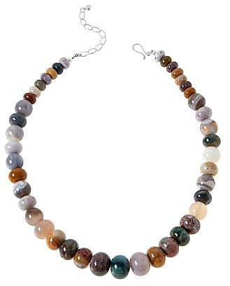 Exclusive! Jay King Multi-Color Ocean Jasper and Agate Bead Necklace