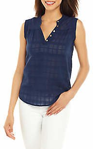 New Directions® Women's Sleeveless Texture Popover Top