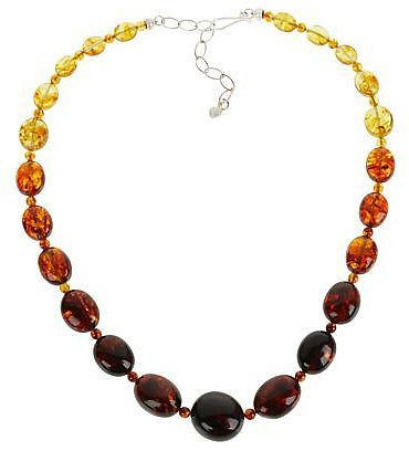 Exclusive! Jay King Sterling Silver Ombré Amber Graduating Bead Necklace