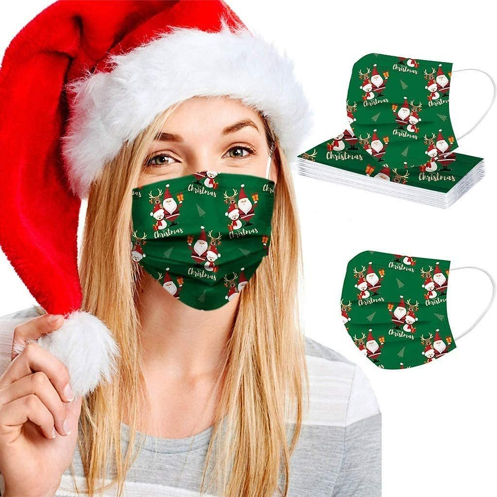 Holiday Themed Disposable Non-Medical 3-Ply Face Mask (50-Pack)