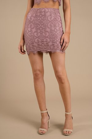 Lace and Grace Dark Rose Skirt