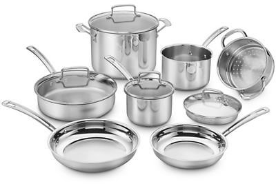 12% OFFF  Cuisinart® Chef's Classic Pro 11-Piece Cookware Set in Stainless Steel
