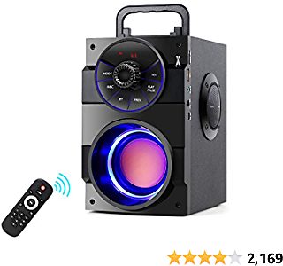 TAMPROAD Portable Bluetooth Speakers with Subwoofer Rich Bass Wireless Outdoor/Indoor Party Speakers MP3, Portable Multi-functi