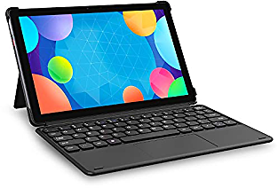 CHUWI SurPad Android 10.0 Tablet with Keyboard, 4G LTE Unlocked Phablet 10.1-inch 1920x1200 IPS Touchscreen Helio P60 Octa-Core 4GB RAM 128GB UFS2.1 USB-C 8.0MP Dual Webcams 8000mAh 2-in-1 Tablet PC