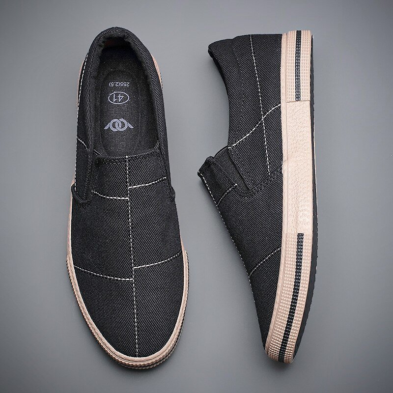 US $49.04 |New Style Breathable Men Designer Loafers Shoes British Fashion Male Vulcanized Shoe Hard Wearing Light Canvas Sneaker BD20151|Men's Vulcanize Shoes| - AliExpress