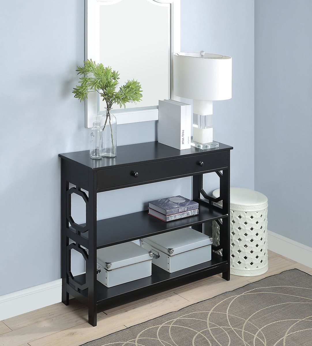 Convenience Concepts Omega 1 Drawer Console Table , Multiple Finishes