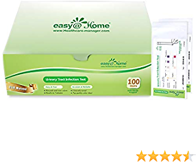 Easy@Home 100 Individual Pouch Urinary Tract Infection Test Strips, UTI Urine Testing Kit for Urinalysis and Detection of Leukocytes and Nitrites (UTIPOUCH-100P) Expires 3/8/21