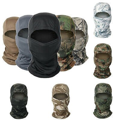 Men Army Cap Headwear Flap Hat Full Neck Cover Camouflage Hats Winter Outdoor