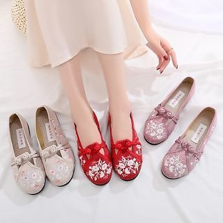 Kyotopia - Embroidered Hanfu Loafers