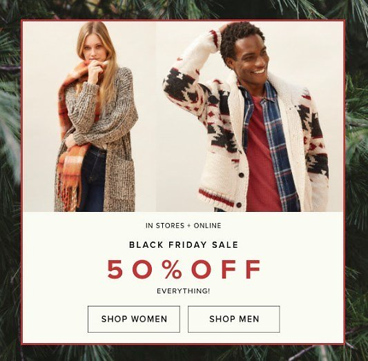BLACK FRIDAY 50% OFF SITEWIDE +30% Off Shoes & Handbags