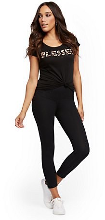 High-Waisted Capri Yoga Legging
