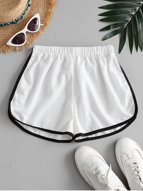 Mid Rise Pull-on Dolphin Shorts