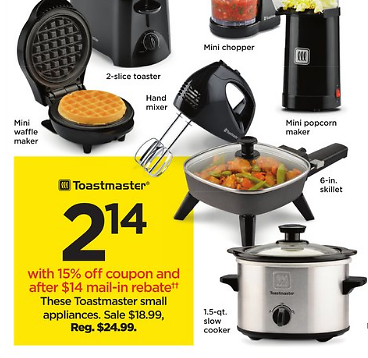 $2.14 Toastmaster Kitchen Appliances (11/22)