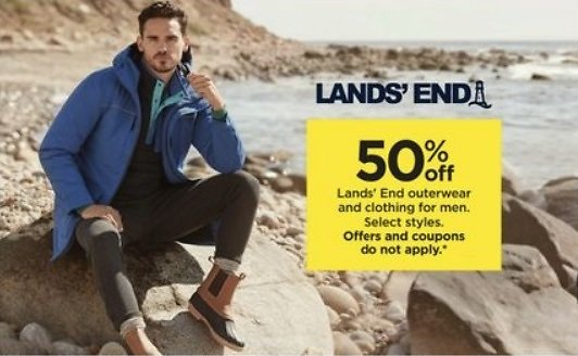 50% Off Lands End Outerwear and Clothing for Men
