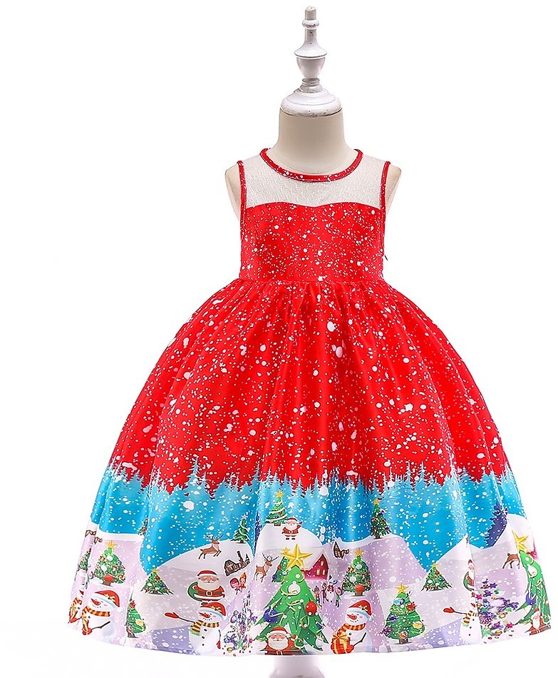 Baby / Toddler Christmas Sleeveless Party Dress