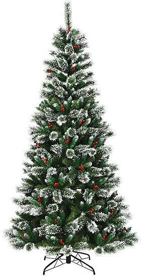 EXTRA 51% OFF Snow Flocked Artificial Christmas Tree with Red Berries