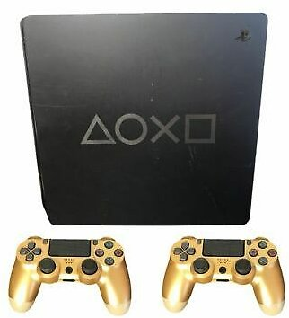 Days of Play Limited Edition Gray Playstation 4 Slim PS4 Console W/ 2 Controller