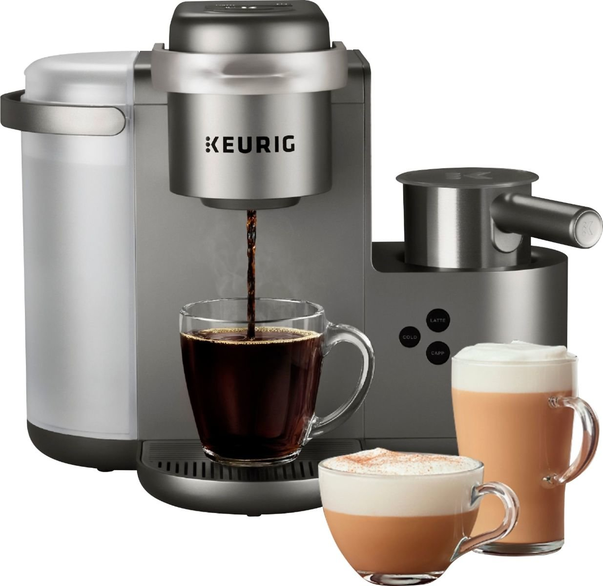 14% OFF | Keurig K-Cafe Special Edition Single Serve K-Cup Pod Coffee Maker with Milk Frother Nickel 5000200558