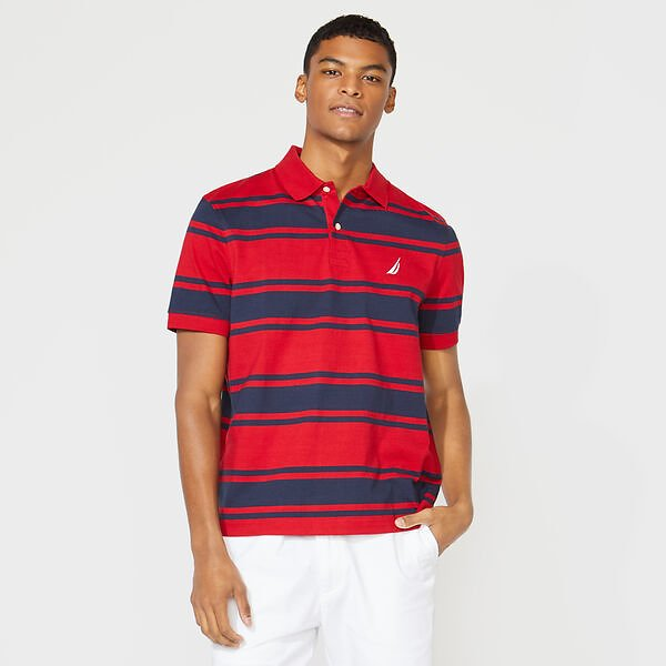 Classic Fit Striped Polo (8 Colors)